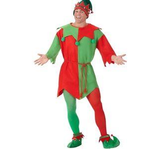Male Christmas Elf Costume